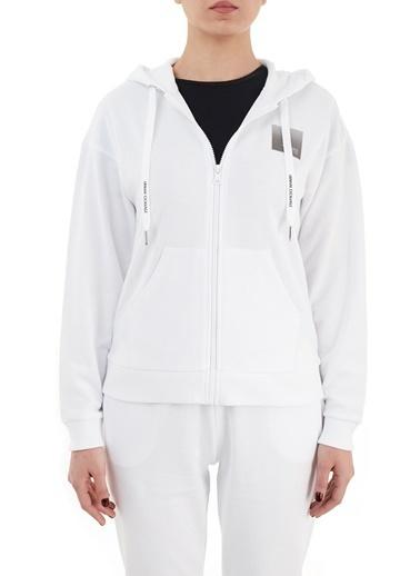 Armani Exchange  % 100 Pamuklu Kapüşonlu Sweat Kadın Sweat 3Kym61 Yj2Hz 1100 Beyaz